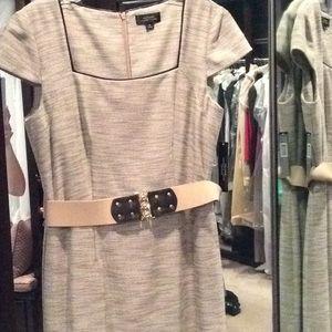 Tahari size 8 brown and cream summer dress, nwt